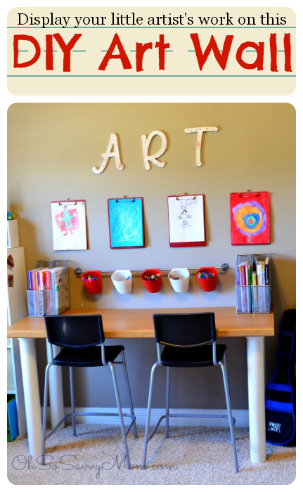 Display Your Kids' Artwork on this DIY Art Wall