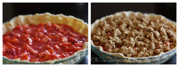Raspberry peach pie recipe