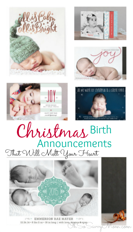 Holiday Birth Announcements