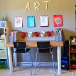 How to Create a Homework Station or Homeschool Area in Small Spaces