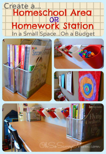 Create a Homeschool Area or Homework Station in a small space, on a budget