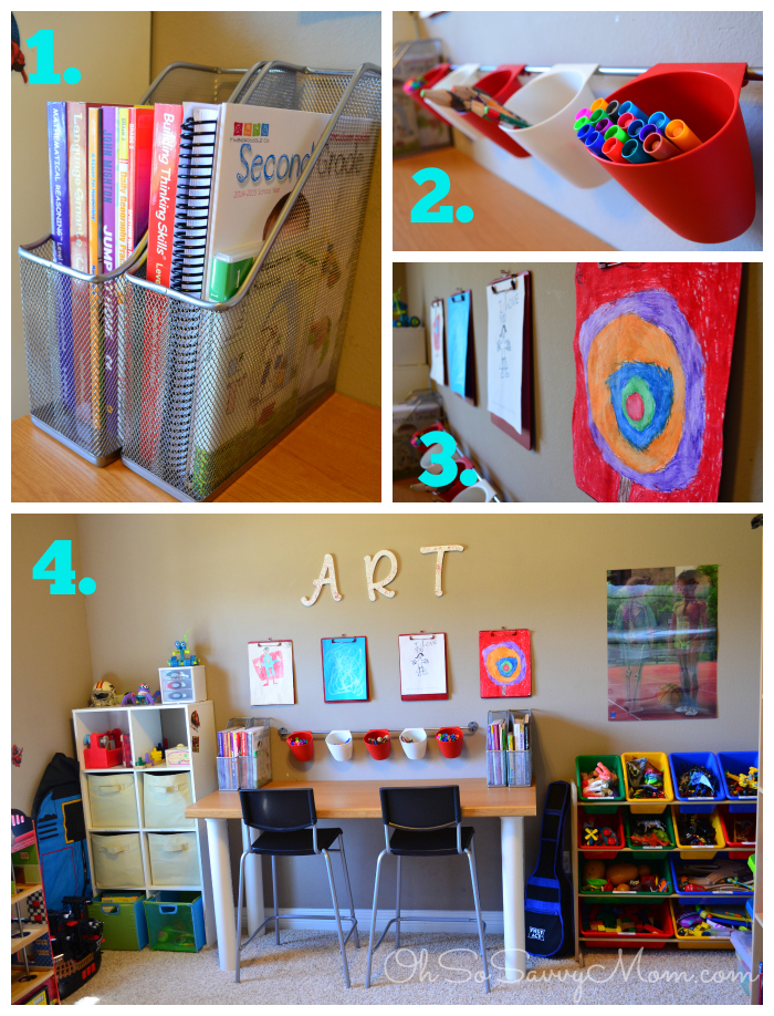 Homeschool area in small spaces