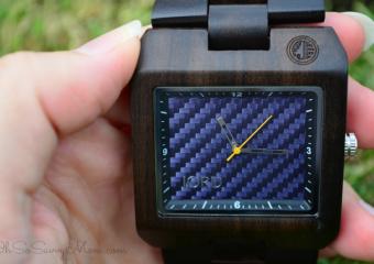 Jord wood watch Men's Delmar Blue