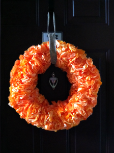 DIY Dyed Coffee Filter Wreath