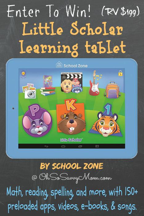 Little Scholar tablet giveaway