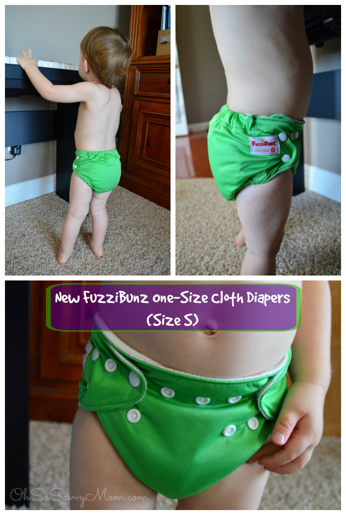 New FuzziBunz One-Size Cloth Diaper - Size Small
