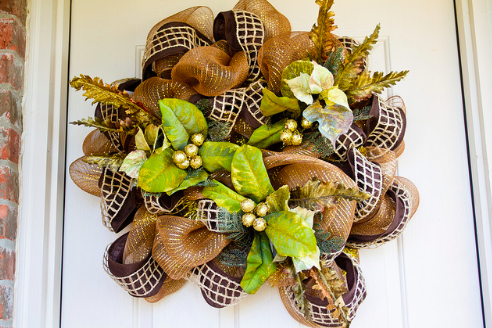 Fall Mesh Wreath DIY