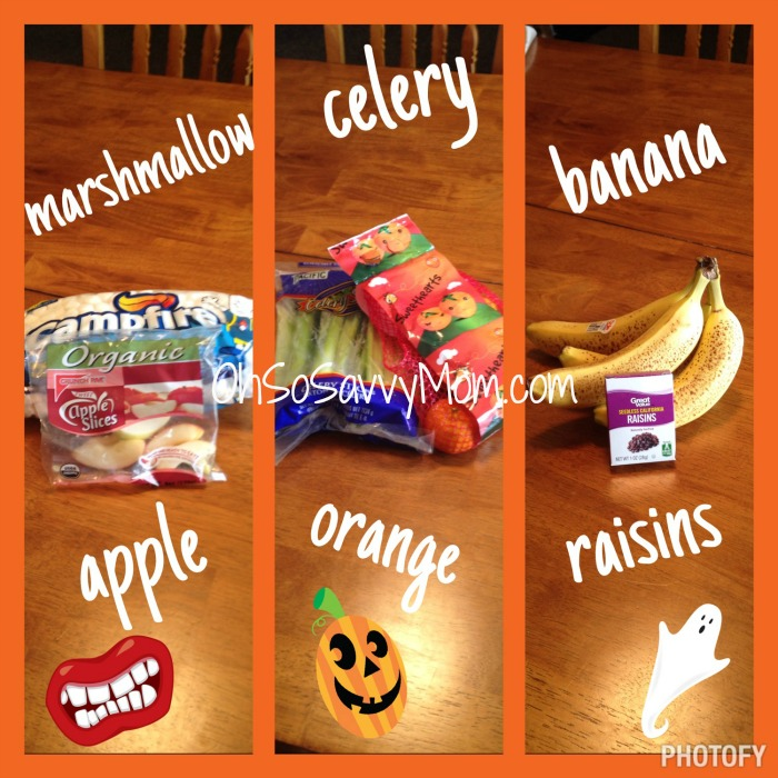 Halloween Appetizer Ingredients