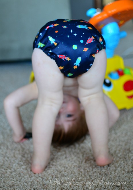 Little Z in Royal Fluff Cloth Diapers