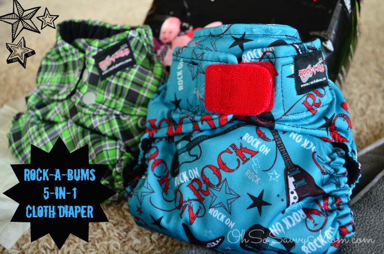 Rock-a-Bums 5-in-1 Cloth Diaper