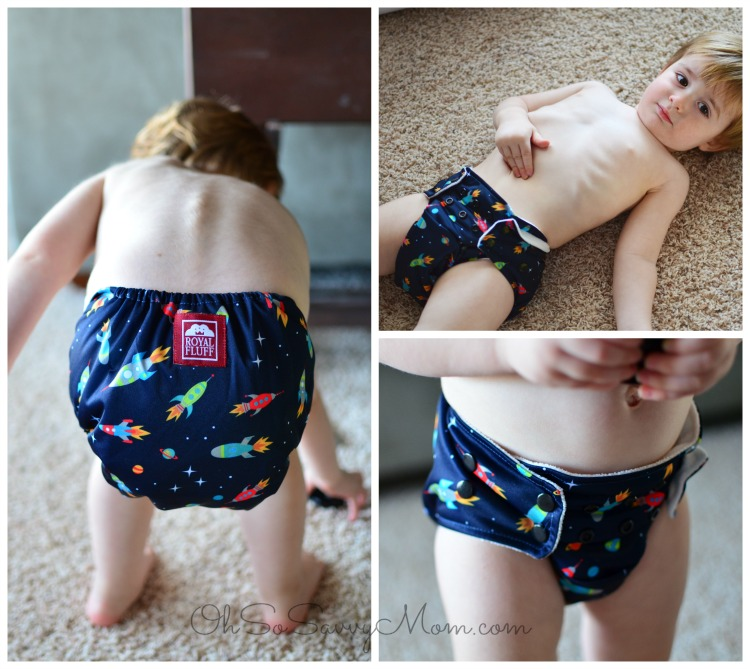 Royal Fluff Cloth Diaper fit