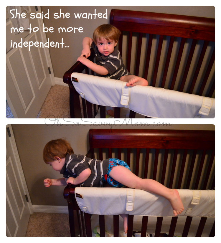 toddler climbing out of crib oh so savvy