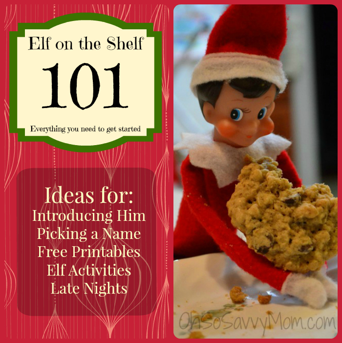 Elf on the shelf 101 for elf newbies oh so savvy mom for Elf shelf craft show