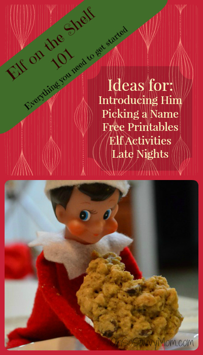 Elf on the Shelf 101, Ideas for introducing and picking a name for your Elf on the Shelf, plus free Elf on the Shelf Printables, and Elf on the Shelf Ideas