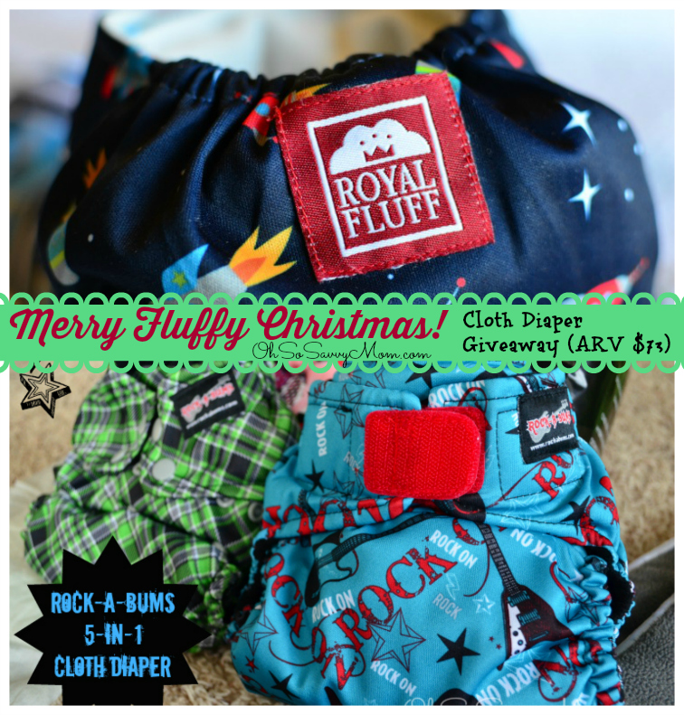 Merry Fluffy Christmas Cloth Diaper giveaway prize