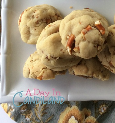 Caramel Filled Pretzel Cookies