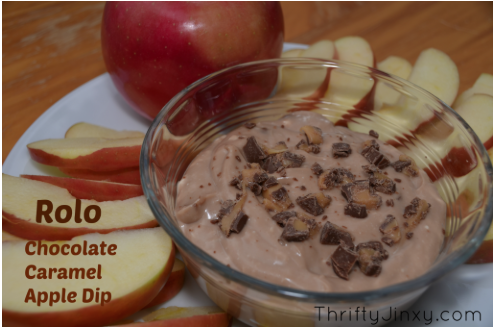 Rolo Chocolate Caramel Apple Dip