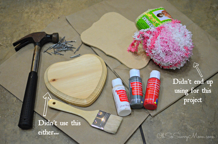 DIY Valentine's Day String Art Craft
