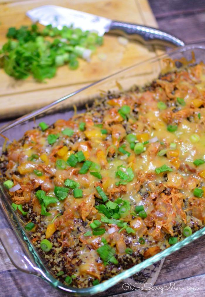 Santa Fe Chicken Quinoa Casserole