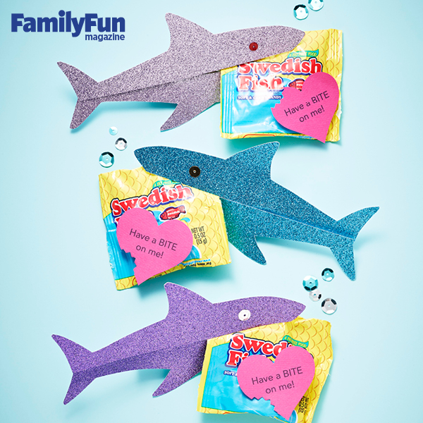 Creative Valentines Day Shark Treats with Printable Template