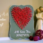 I'll Love You Forever String Art Valentine