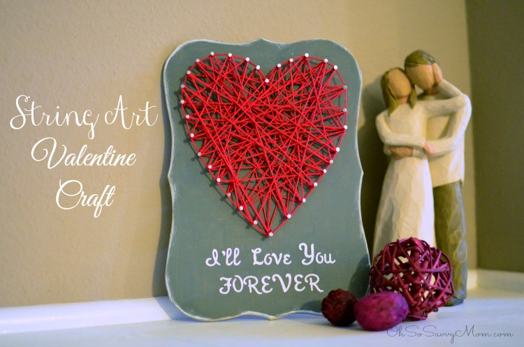 I'll Love You Forever, String Art Valentine