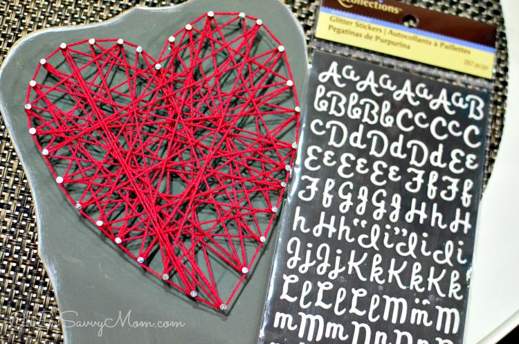 String Art Valentine Letters