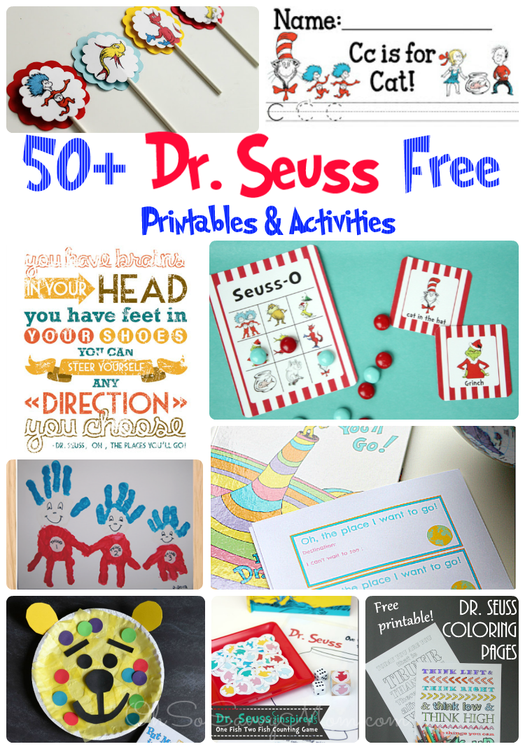50+ FREE Dr. Seuss Printables and Activities! - Oh So ...