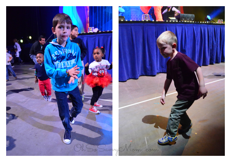 Brothers dancing at Sesame Street Live