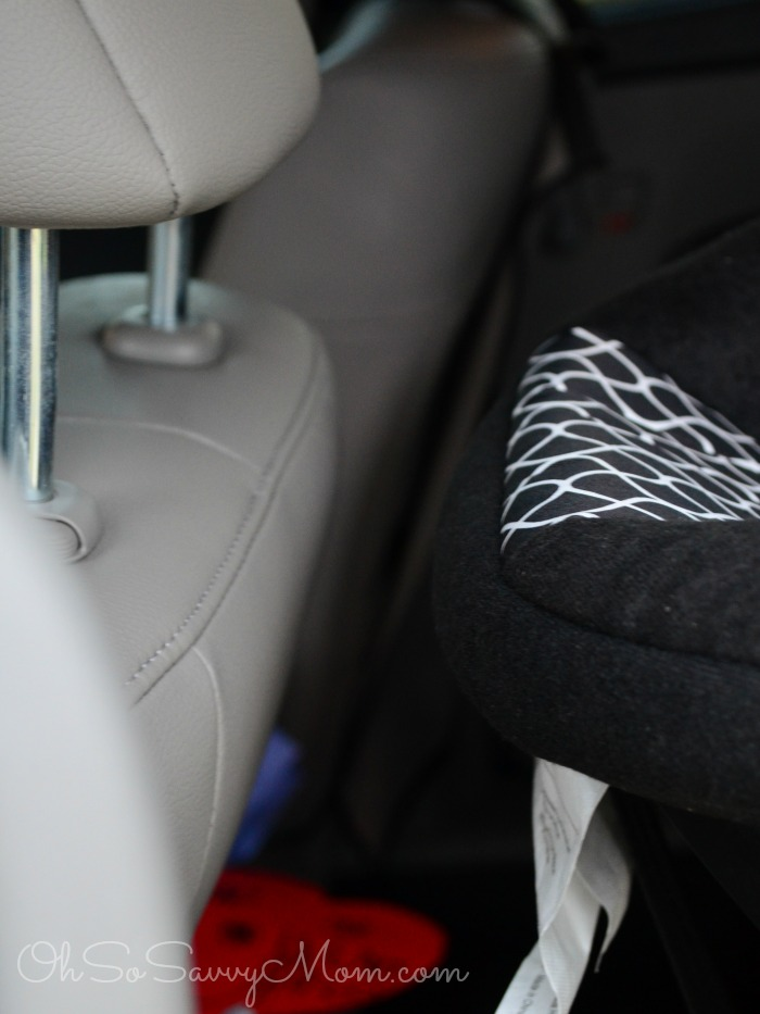 Cosco Scenera NEXT car seat space