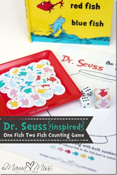 Dr. Seuss inspired One Fish Two Fish Counting game - free printable