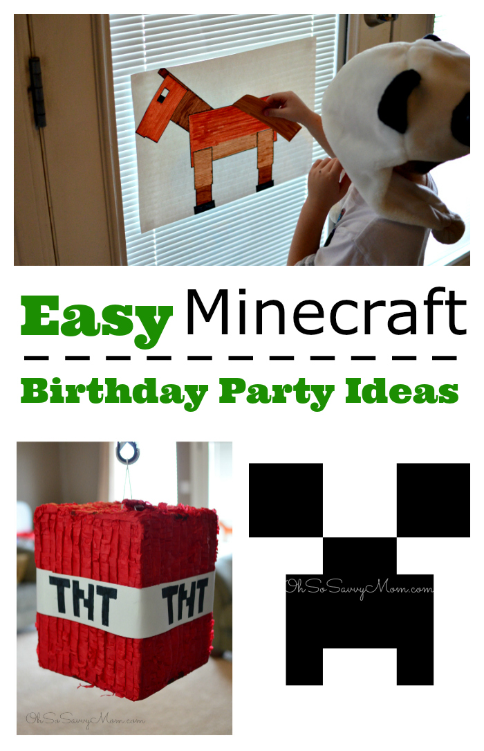 How To Throw A Minecraft Birthday Party Easy Ideas
