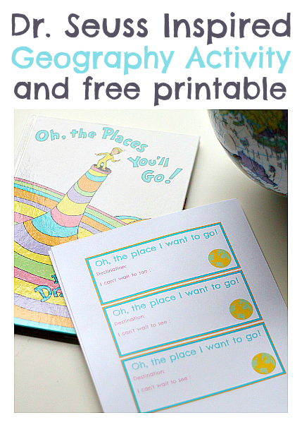 Free Dr. Seuss Printable Geography Lesson for kids