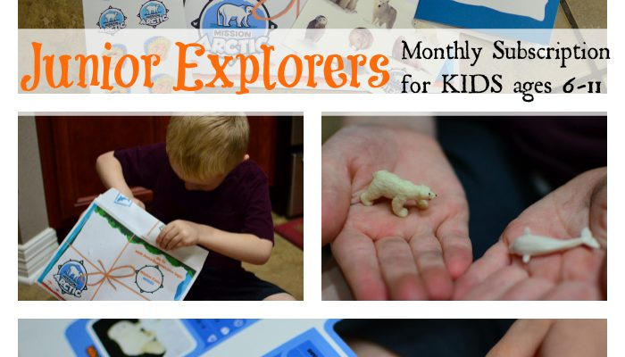Junior Explorers monthly Educational subscription Kit for kids ages 6-11