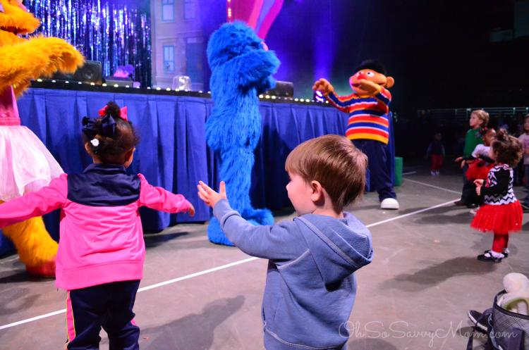 Little Z Dancing at Sesame Street Live Let's Dance