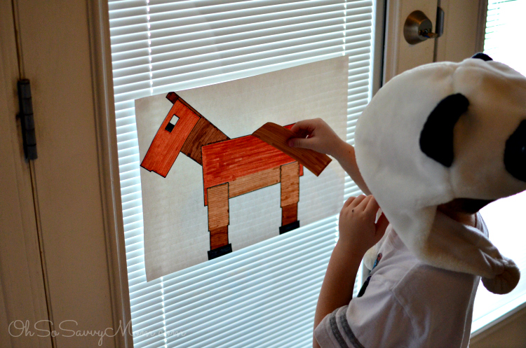 Minecraft birthday party ideas pin the tail on the horse