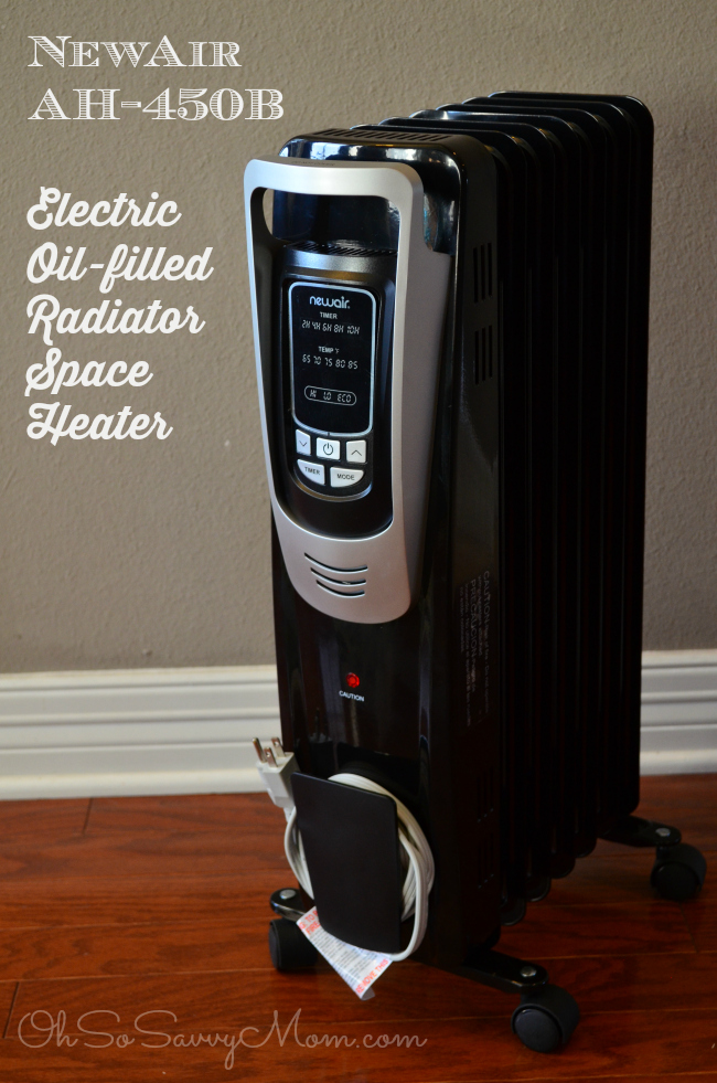 NewAir AH-450B Electric Oil-filled Radiator Space Heater