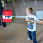 Taking a swing at the Minecraft Pinata