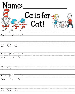 Cat in the Hat letter Cc - Free Printable