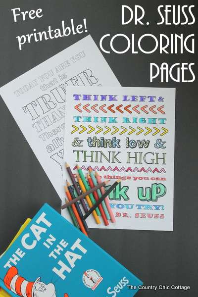 free printable dr seuss coloring pages