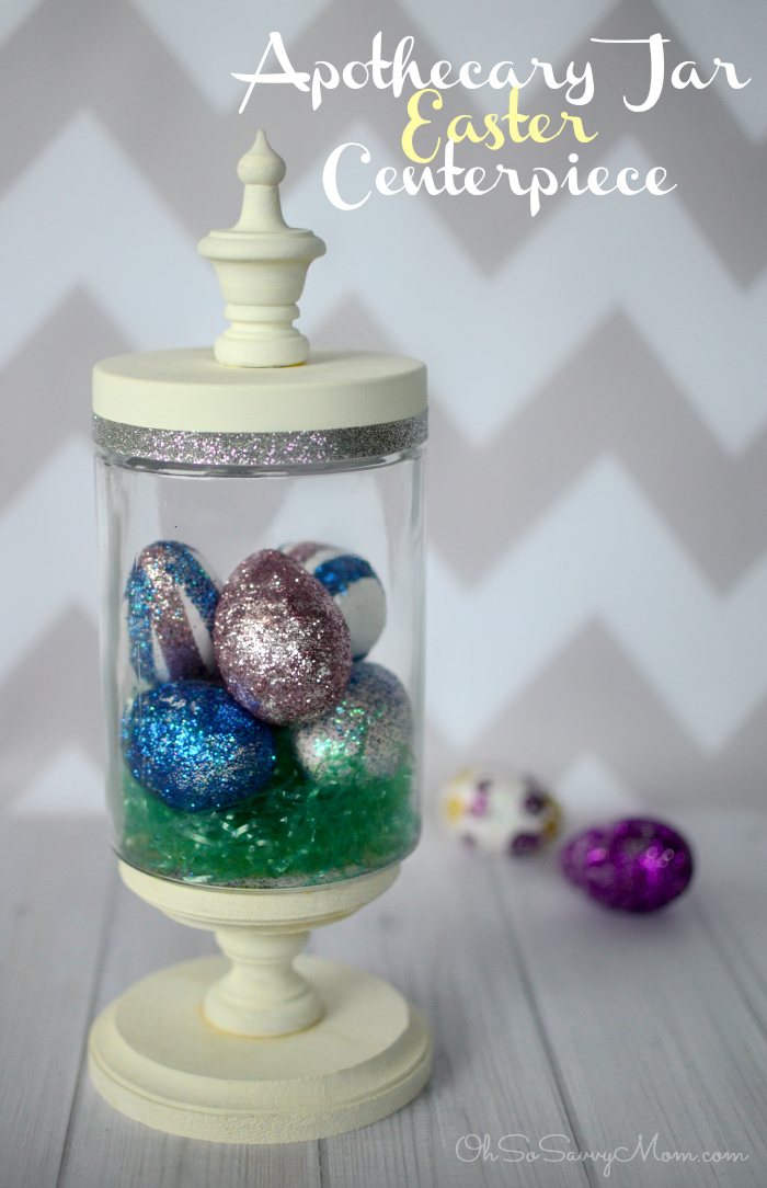 Apothecary Jar Easter Centerpiece