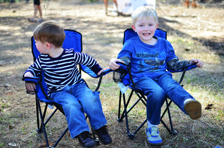 Brothers Sitting in Camp Chairs