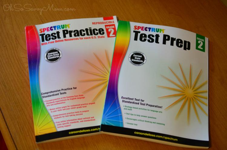 Carson Dellosa Spectrum Test Practice and Prep books