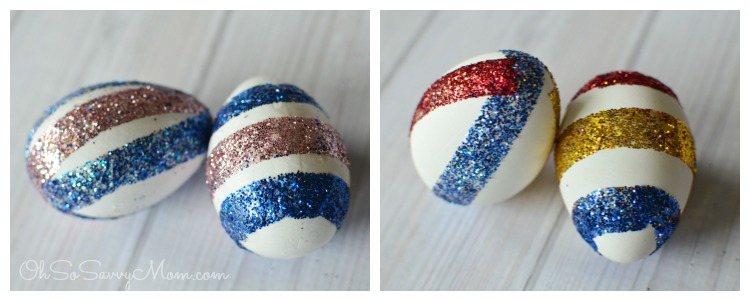 Glitter Easter Eggs with Scrapbooking tape
