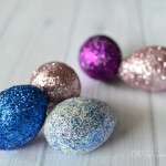 Make Glitter Easter Eggs with Spray Adhesive