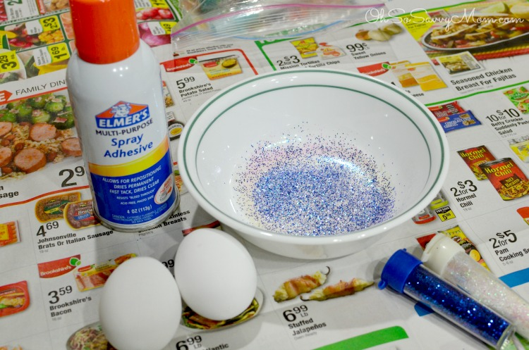 Making glitter eggs