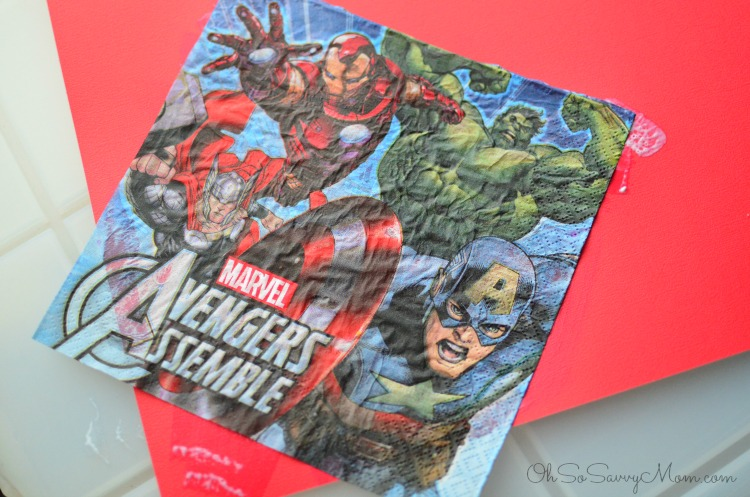 Modge Podge Avengers Easter Basket Instructions