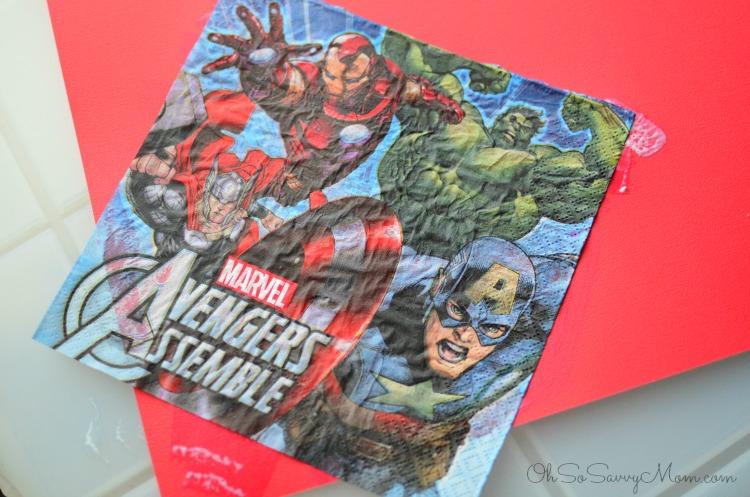 Modge Podge Avengers Easter Basket Instructions