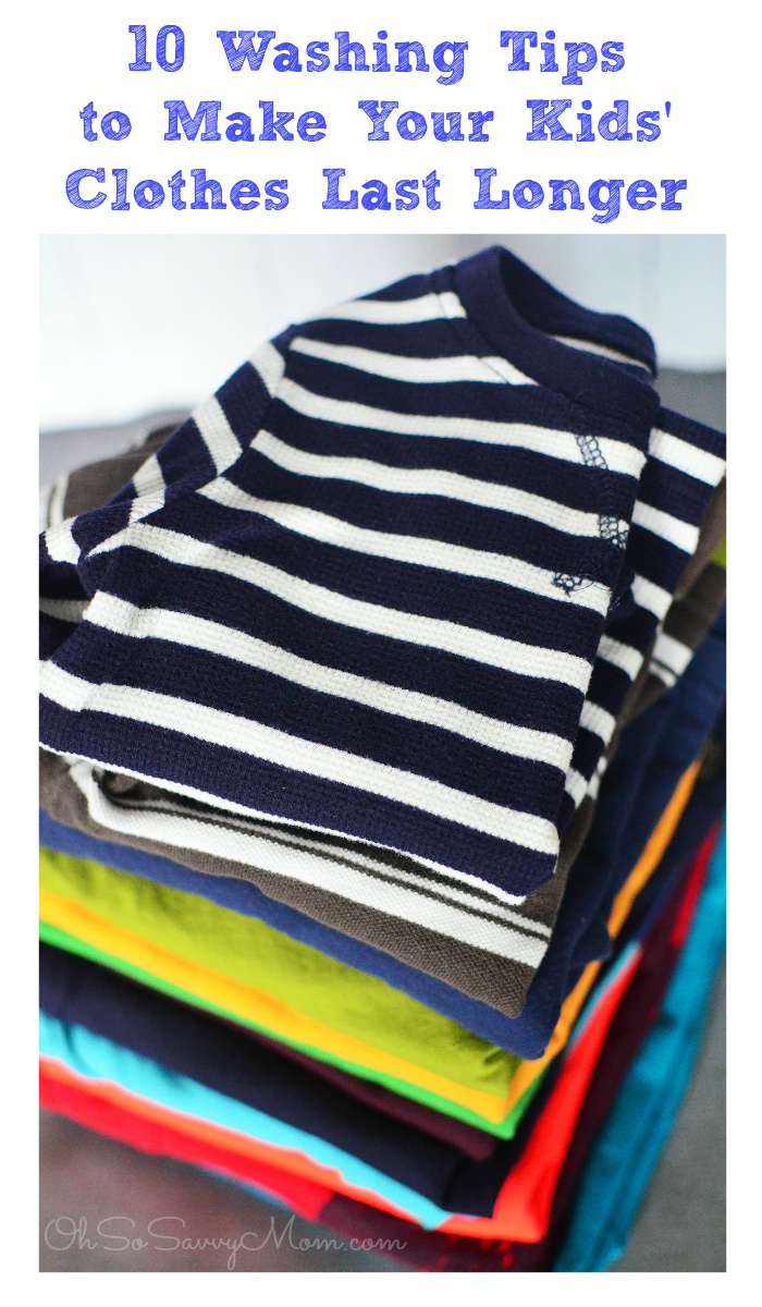 10 Washing Tips to Make your Kids' Clothes Last Longer