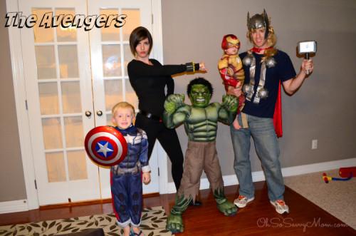 Family Avengers costumes